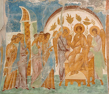 Parable of the virgins. Fresco by Dionysy.